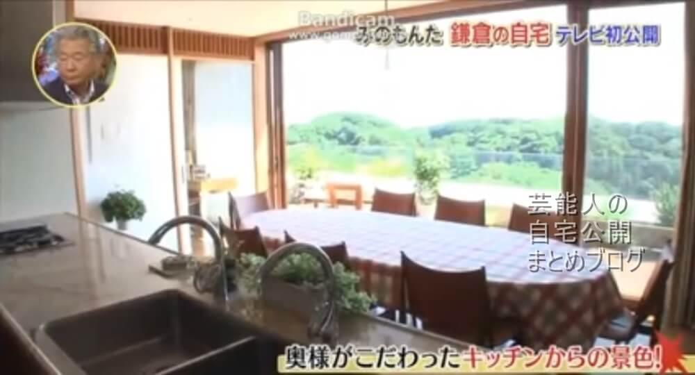 みのもんた自宅キッチン
