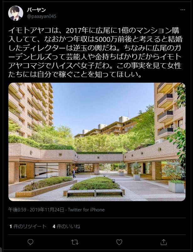イモトアヤコの自宅