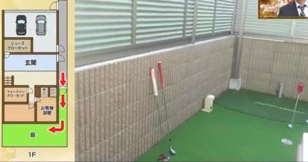 遠藤章造 ゴルフ練習