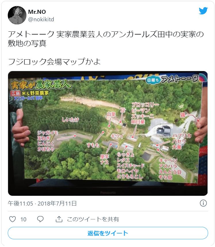 アンガ田中実家上空